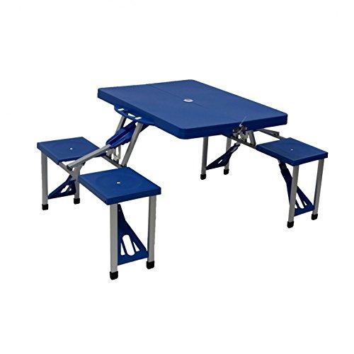 oypla 3910oyp Tragbarer, faltbarer Outdoor Picknick Pit Tisch und Bank, mehrfarbig, 87x 15,75x 4.33cm (Faltbare Sitzbank Tisch)