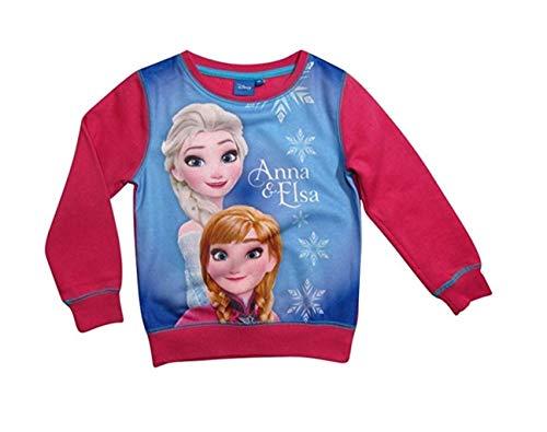 Frozen - Die Eiskönigin Disney Pullover Mädchen Anna und ELSA (Fuchsia, ()