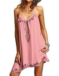 Vestido de verano mujer sexy sin mangas impreso flojo vestido de playa mxssi moda bodycon vestidos de fiesta de…