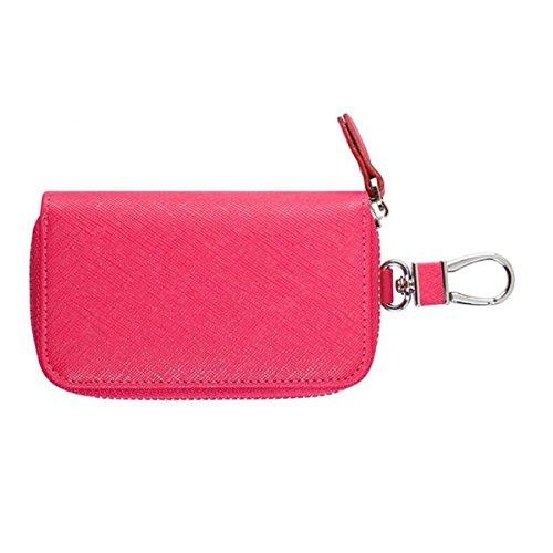 Jia Qing Lady PU Leather Zipper Étui à Clés Multifonctions à Grande Capacité