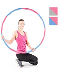 Proworks Weighted Hula Hoop | 1.2kg Adjustable Foam Padded Fitness Hoop for Exercise and Dance