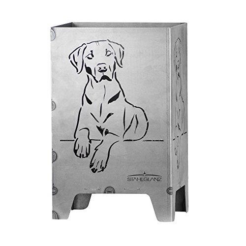 feuerwuerfel Feuerkorb, Feuerwürfel, Feuerschale, Hund, Ridgeback aus Stahl (49x31x31 cm)