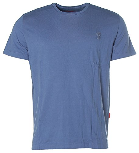 Signum Herren Kurzarm Shirt T-Shirt Rundhals Dusty Blue