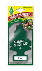 Idea Regalo - Arbre Magique Mono, Deodorante Auto, Fragranza Pino, Profumazione Prolungata fino a 7 Settimane