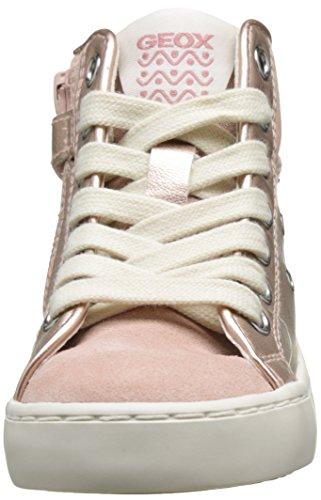 Geox - JR Kilwi Girl - Sneakers Hautes - Fille Rose (Dk Rosec8007)