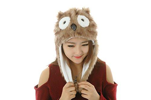 ere Unisex Plüsch Tier Hats Kostüm Abzugshaube Spielzeug Leistungsstützen (White Tiger Ohren)