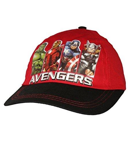 Garçons Minecraft officiel casquette de baseball âge 2-8 ans Avengers Rouge 100% coton