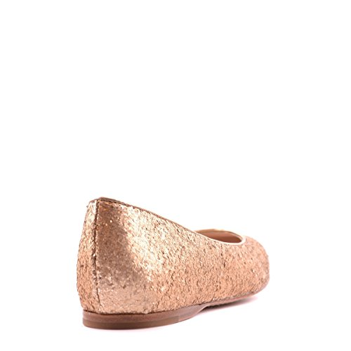 Prada ballerines femme en cuir neuves glitter matt or Or