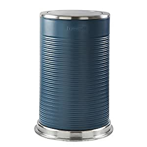 Typhoon Ripple Poubelle, en acier, ardoise/Bleu, 40L