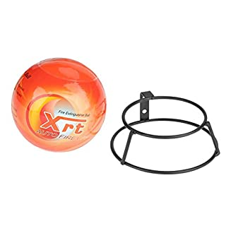 Fire Extinguisher Ball 0.5/1.3kg Fire Ball Automatic Stop Fire with 1 x Wall Mounting Bracket/2 x Screw/2 x Wall Plug (1.3kg)
