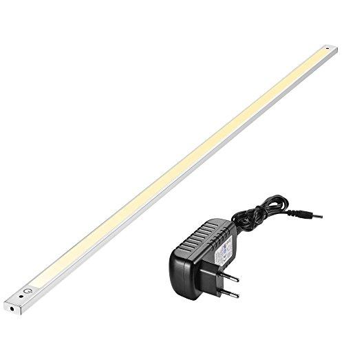 90cm LED Unterbauleuchte 3000K, Sensor Switch, flach, überall montieren, aufkleben, Inklusive Alle Zubehör, LED Nachtlicht, kühles Weiß, Warmweiß