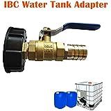 IBC S60X6 - Adaptador de válvula de desagüe, grifo de latón cromado, salida y