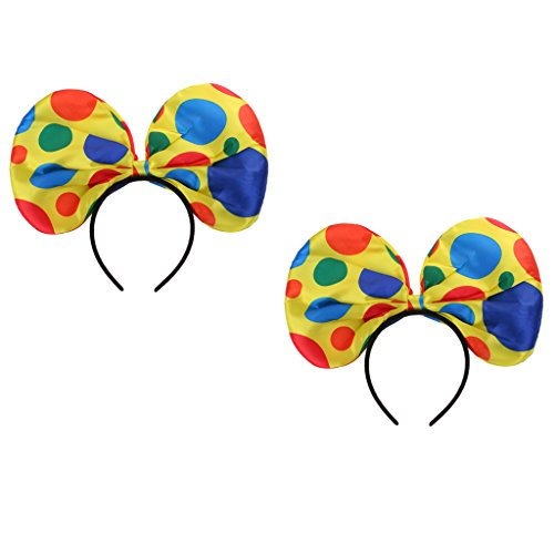 Sharplace 2 Stück Polka Dots Clown Hut Stirnband Zirkus Jester Kostüm Zubehör