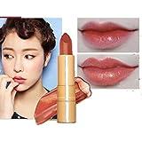 Lápiz labial, Internet Shimmer labial metalizado labial brillo duradero sombreador de ojos (F)