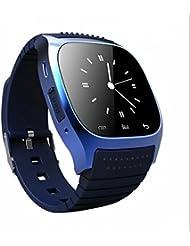 Bluetooth Smartwatch Uhr Intelligente Armbanduhr Sport Uhr,Fern Fotografieren,Real Time Heart Rate Monitor,Metallgehäuse,Pulsmesser,Pedometer,handy uhr,Fern Fotografieren,für Smartphones mit Android System,Samsung,HTC