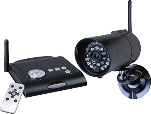 Smartwares digitales drahtloses Kamerasystem mit Bewegungssensor für den Außenbereich, Reichweite circa 50 m, schwarz, C961DVR