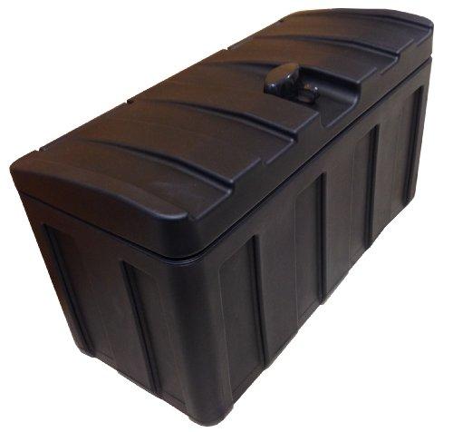 Especialmente desarrollado para remolques de vehículos. El tamaño de los compartimentos se ha escogido de forma que quepan las baterías más habituales. Las correas de amarre y otros accesorios pueden guardarse aquí a salvo de salpicaduras. Naturalmen...