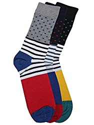 Alvaro Castagnion Pack of 3 Above Ankle-Length Socks for Men