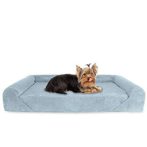 Kopeks sofa-bed-grey-small-medium Deluxe Orthopädische Memory Foam Sofa Lounge Hundebett, Klein, Grau
