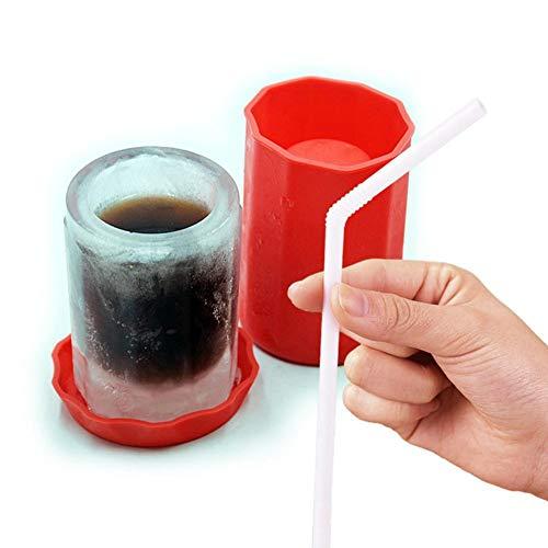 Betteros Glas-Eisform, EIS-Bierkrug Wiederverwendbare Silikon-EIS-Gläser-Form ideal für Sommer Party Home Kitchen Event
