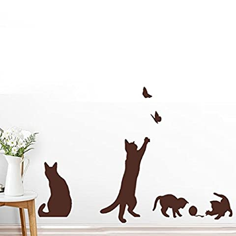 Vovotrade Chats Papillon Stickers muraux Art Stickers Mural Wallpaper Home