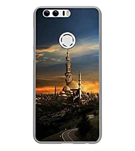 PrintVisa Designer Back Case Cover for Huawei Honor 8 (Ancient Village with Beautiful Sunset)