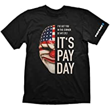 Payday 2 Dallas Mask Camiseta Negro L