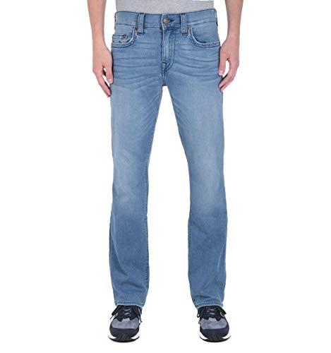 True Religion Ricky No Flap - Entspannte, gerade geschnittene Jeans in Hellblau