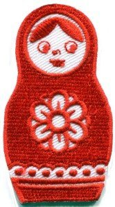 Russian Matryoshka Babushka Nesting Doll Appliques Hat Cap Polo Backpack