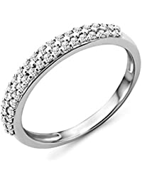 Miore - Alliance - Or Blanc 9 cts - Diamant 0.24 cts