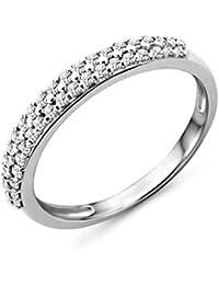 Miore Damen Allianz–Weißgold 9kt–Diamanten 0,24ct