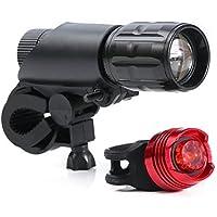 LED Luce della Bici Set,Rixow bicicletta faro e fanale posteriore, Anteriore e Set Bicicletta Luce Posteriore,3 Modalità di Luce - Led Luce Posteriore Della Bicicletta