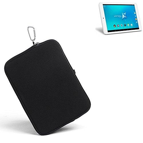 K-S-Trade® für Allview Viva Q8 Pro Neopren Hülle Schutzhülle Neoprenhülle Tablethülle Tabletcase Tablet Schutz Gürtel Tasche Case Sleeve Business schwarz für Allview Viva Q8 Pro