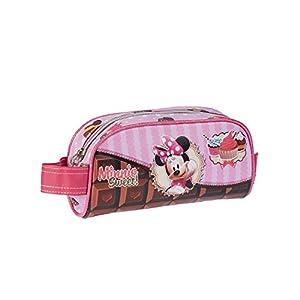 Minnie Mouse- Estuche portatodo, Color Rosa, 20 cm (Karactermanía 51159)