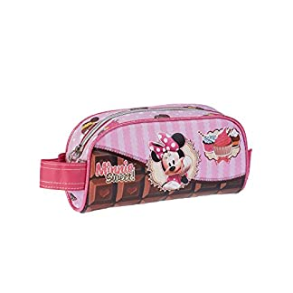 Minnie Mouse- Estuche portatodo, Color Rosa, 20 cm (Karactermanía 51159)