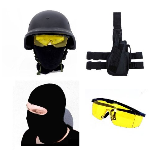 Angry Tactics! XXXL Set mit Holster Helm Kopfmaske Schutzbrille