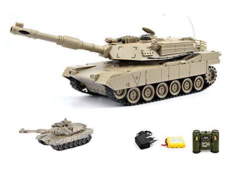 m1a2Abrams US.Army 2.4GHz RC tanque teledirigido Tank, cadena Vehículo con muchas funciones, disparos Simulación, efectos de luz y sonido, Set completo