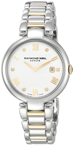 Raymond Weil Women's 'Shine' Swiss Quartz Stainless Steel Casual Watch, Color:Two Tone (Model: 1600-STP-00618)
