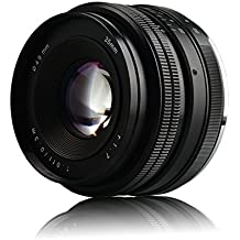 Lightdow Obiettivo EF 35mm F/1.7 per SONY E monte Messa a Fuoco Manuale Sony NEX NEX-3 NEX-3N NEX-5 NEX 5T NEX 5R NEX-6 NEX-7 A5000 A5100 A6000 A6300 A6500 A9
