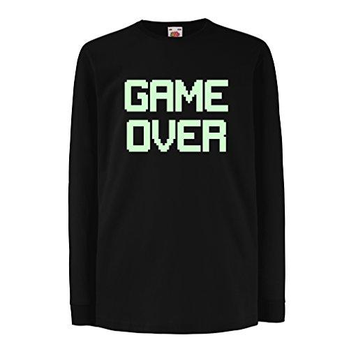 Kinder-T-Shirt mit langen Ärmeln Spiel über lustige Gamergeschenke (12-13 years Schwarz (Kostüme Yourself Frauen It Do)