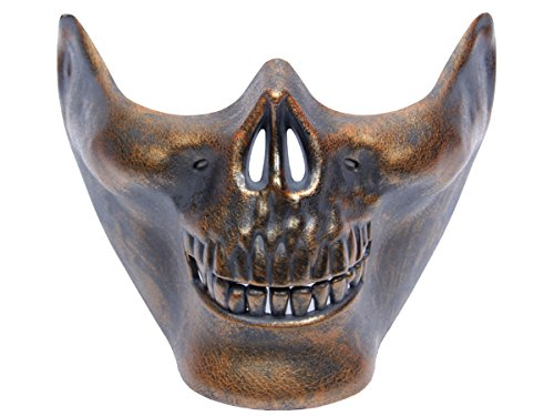 ke Halbmaske Kunststoff-Maske Freaky Totenkopfmaske Spooky Horrormaske Gruselmaske, Variante wählen:P973044-1 ()