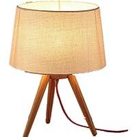 FWEF panno legno pulsante interruttore tabella lampada nordico legno massello Living camera studio camera da letto lampada da comodino registra paese creativo minimalista moderno Lamp(23*25*40cm)