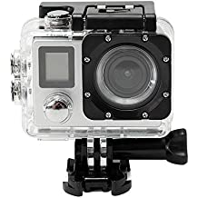 Sufeng Waterproof 4K Dual Screen WiFi HD 1080P Sports Action Camera DVR Cam Camcorder (Silver)