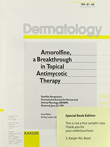Amorolfine, a Breakthrough in Topical Antimyocotic Therapy: Satellite Symposium, Montreal, June 1991 (Dermatology) (1992-02-12)