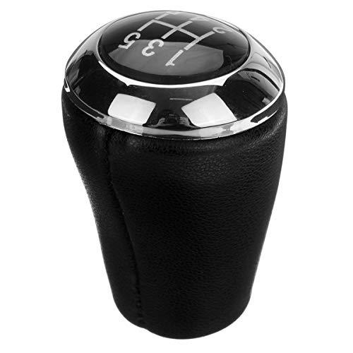 JenNiFer 5-Gang-PU Leder Auto Gear Shift Knob Stick Shifter Head Black for Mazda 3 5 6 (Shifter Stick Gear)