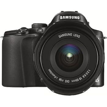 Samsung NX 20 Systemkamera (20 Megapixel, 7,6 cm (3 Zoll) Display, WiFi) inkl. 18-55mm F3.5-5.6 OIS III Objektiv schwarz