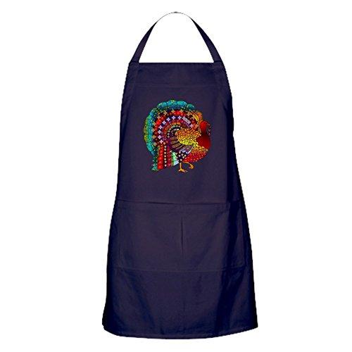 CafePress - Thanksgiving Schürze mit Schmucksteinen, Türkei, 100% Baumwolle, Küchenschürze mit Taschen, perfekte Grillschürze oder Backschürze