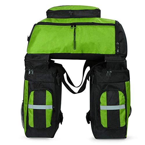Fahrradgepäck Taschen-3 in 1 Multifunktion 70L Gepäck Rack Bag Tear-resistent Large Panniers mit Regenschutz,Green