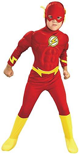 Kinder Größe Deluxe das Flash Kostüm Large (7-8 -
