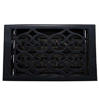 Adonai Hardware Flower Wall And Floor Register with Louver (cast iron, 6